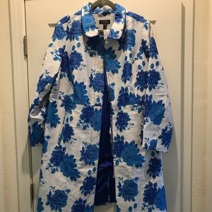 Isaac Mizrahi special edition floral jacquard coat